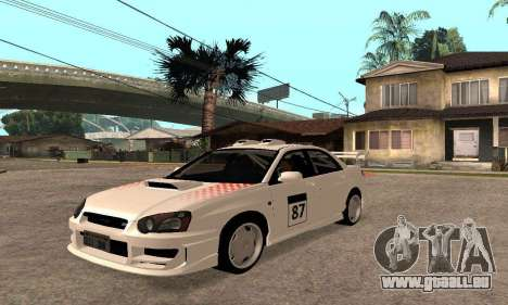 Subaru Impreza WRX STi Tunable pour GTA San Andreas vue de côté
