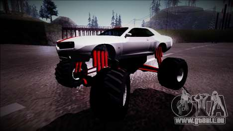 GTA 5 Bravado Gauntlet Monster Truck pour GTA San Andreas laissé vue