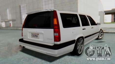 Volvo 850R 1997 Tunable pour GTA San Andreas laissé vue