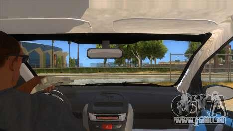 2005 Peugeot 107 V2 pour GTA San Andreas vue intérieure