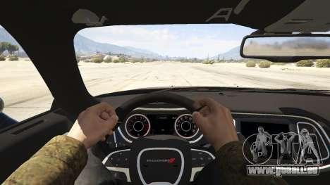 GTA 5 2015 Dodge Challenger vue arrière