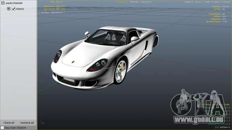 GTA 5 Porsche Carrera GT droite vue latérale