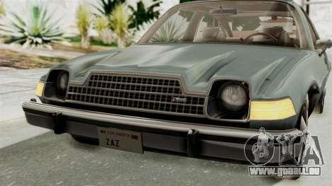 AMC Pacer 1978 IVF pour GTA San Andreas vue de dessus