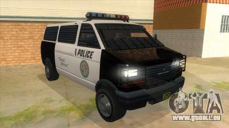 GTA 5 Burrito Transport pour GTA San Andreas vue arrière