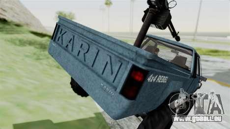 GTA 5 Karin Technical Machinegun IVF pour GTA San Andreas vue de dessus