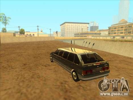 VAZ 2114 9-door pour GTA San Andreas vue intérieure