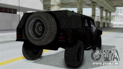 HMLTV-998 BULDOG from Crysis 2 pour GTA San Andreas laissé vue