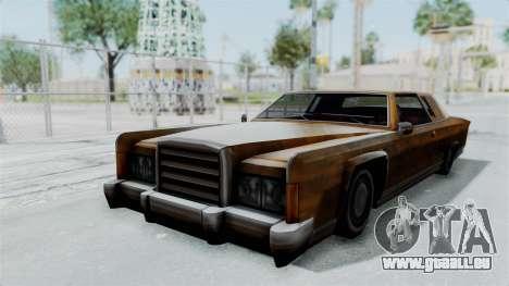 Vinyl Rust für Remington für GTA San Andreas zurück linke Ansicht