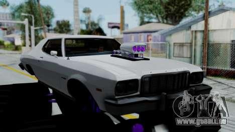 Ford Gran Torino Monster Truck pour GTA San Andreas sur la vue arrière gauche