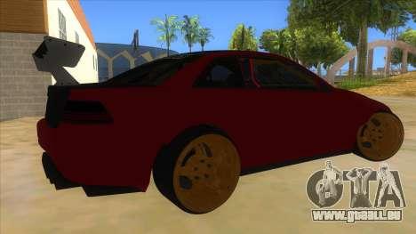 GTA V Sentinel RS MKII pour GTA San Andreas vue de droite