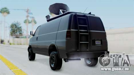 Vapid Speedo Newsvan für GTA San Andreas linke Ansicht