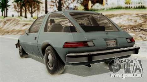 AMC Pacer 1978 IVF pour GTA San Andreas laissé vue