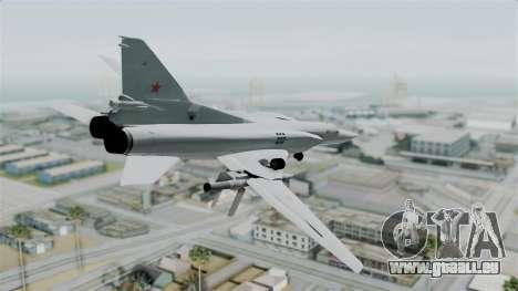 TU-22M3 Vert pour GTA San Andreas laissé vue