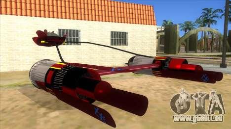 StarWars Anakin Podracer für GTA San Andreas Rückansicht