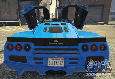GTA 5 SSC Ultimate Aero [Replace] 1.0 hinten links Seitenansicht