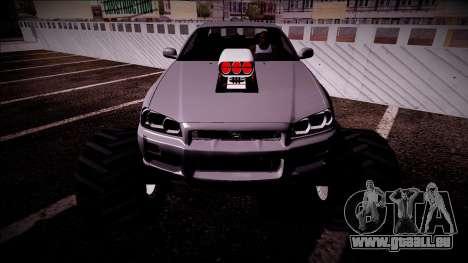 Nissan Skyline R34 Monster Truck für GTA San Andreas Motor