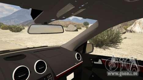 GTA 5 2009 Mercedes-Benz ML63 AMG FBI arrière droit vue de côté