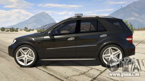 GTA 5 2009 Mercedes-Benz ML63 AMG FBI vue latérale gauche