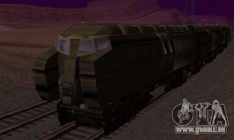 Batman Begins Monorail Train v1 pour GTA San Andreas vue de dessus