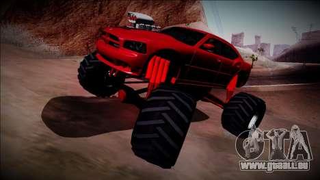 2006 Dodge Charger SRT8 Monster Truck für GTA San Andreas Innenansicht