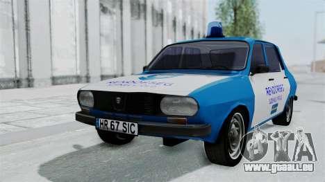 Dacia 1300 Police für GTA San Andreas Rückansicht