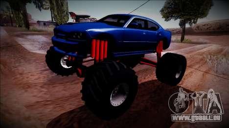 2006 Dodge Charger SRT8 Monster Truck pour GTA San Andreas vue arrière