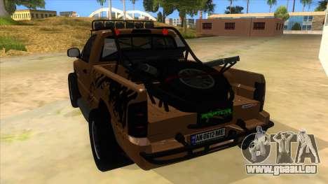 Dodge Ram SRT DES 2012 für GTA San Andreas zurück linke Ansicht