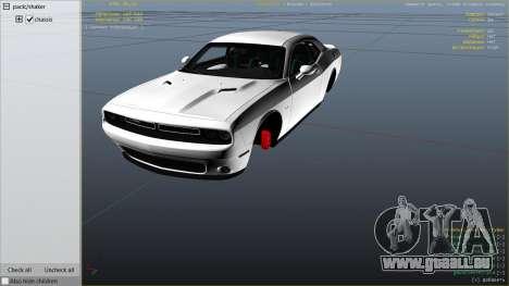 GTA 5 2015 Dodge Challenger droite vue latérale