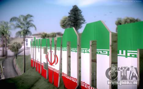 New Vinewood colors Iran flag für GTA San Andreas zweiten Screenshot
