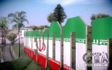 New Vinewood colors Iran flag für GTA San Andreas zweiten Screenshot