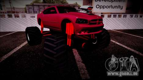 2006 Dodge Charger SRT8 Monster Truck pour GTA San Andreas salon