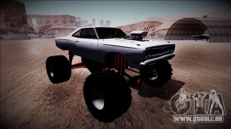 1969 Plymouth Road Runner Monster Truck pour GTA San Andreas vue intérieure