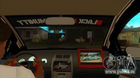 Toyota Yaris (Vitz) [Black Car Community] pour GTA San Andreas vue intérieure