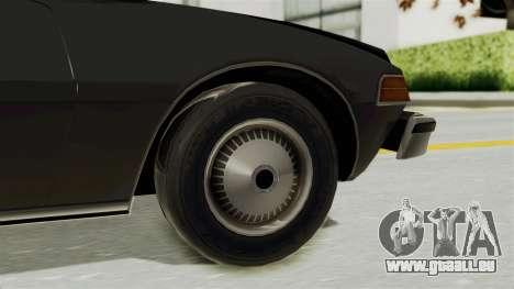 AMC Pacer 1978 pour GTA San Andreas sur la vue arrière gauche