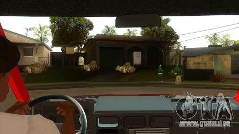 Zastava Daily 35B Special pour GTA San Andreas vue intérieure