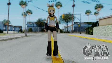 Project Diva F2 - Kagamine Rin (Costume 1) pour GTA San Andreas deuxième écran