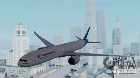 Boeing 777-9U3(X) Garuda Indonesia für GTA San Andreas zurück linke Ansicht