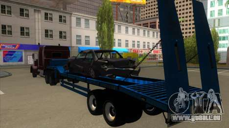 Trailer with Hydaulic Ramps pour GTA San Andreas vue arrière