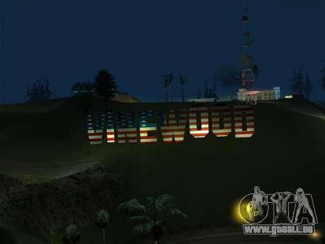 New Vinewood colors USA flag für GTA San Andreas dritten Screenshot