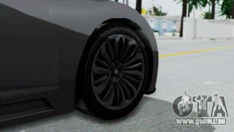 GTA 5 Truffade Adder v2 SA Lights pour GTA San Andreas sur la vue arrière gauche