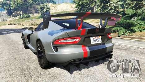 GTA 5 Dodge Viper SRT ACR 2016 hinten links Seitenansicht