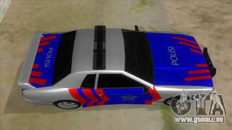 Elegy NR32 Police Edition White Highway pour GTA San Andreas vue intérieure