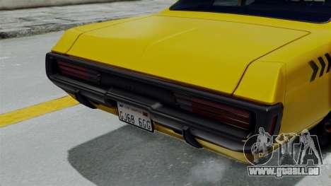 Dodge Polara 1971 Kaufman Cab für GTA San Andreas rechten Ansicht