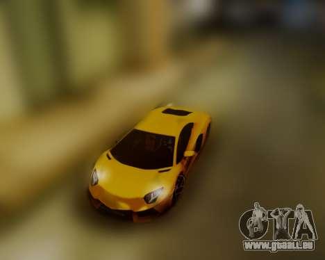 Lamborghini Aventador LP700-4 pour GTA San Andreas sur la vue arrière gauche