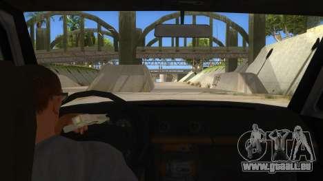 Toyota Hilux Militia pour GTA San Andreas vue intérieure