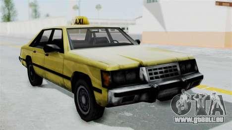 Taxi from GTA Vice City pour GTA San Andreas sur la vue arrière gauche