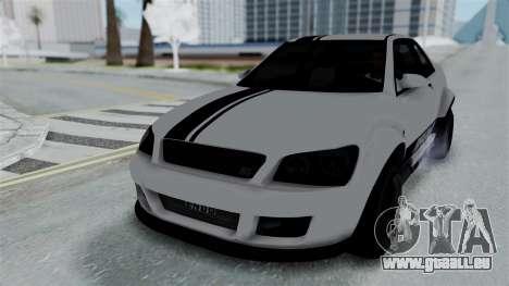 GTA 5 Karin Sultan RS Stock PJ für GTA San Andreas Seitenansicht