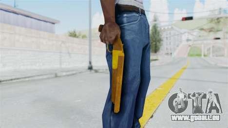 Double Barrel Shotgun Gold Tint (Lowriders CC) pour GTA San Andreas troisième écran