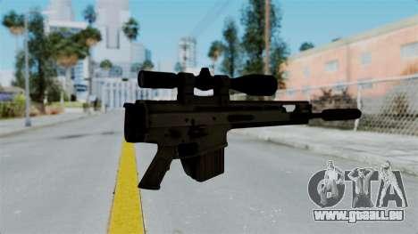 SCAR-20 v1 Folded pour GTA San Andreas deuxième écran