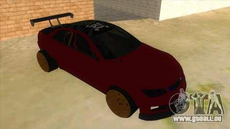 GTA V Sentinel RS MKII für GTA San Andreas Rückansicht